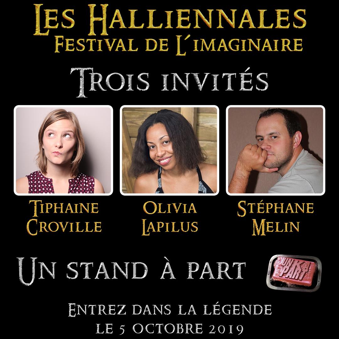 Auteurs invités stand blog Un K à part Halliennales 2019
