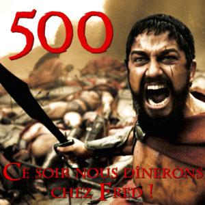 300 Léonidas 500 articles sur le blog