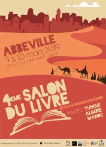 Affiche salon du livre et de la francophonie Abbeville 2019