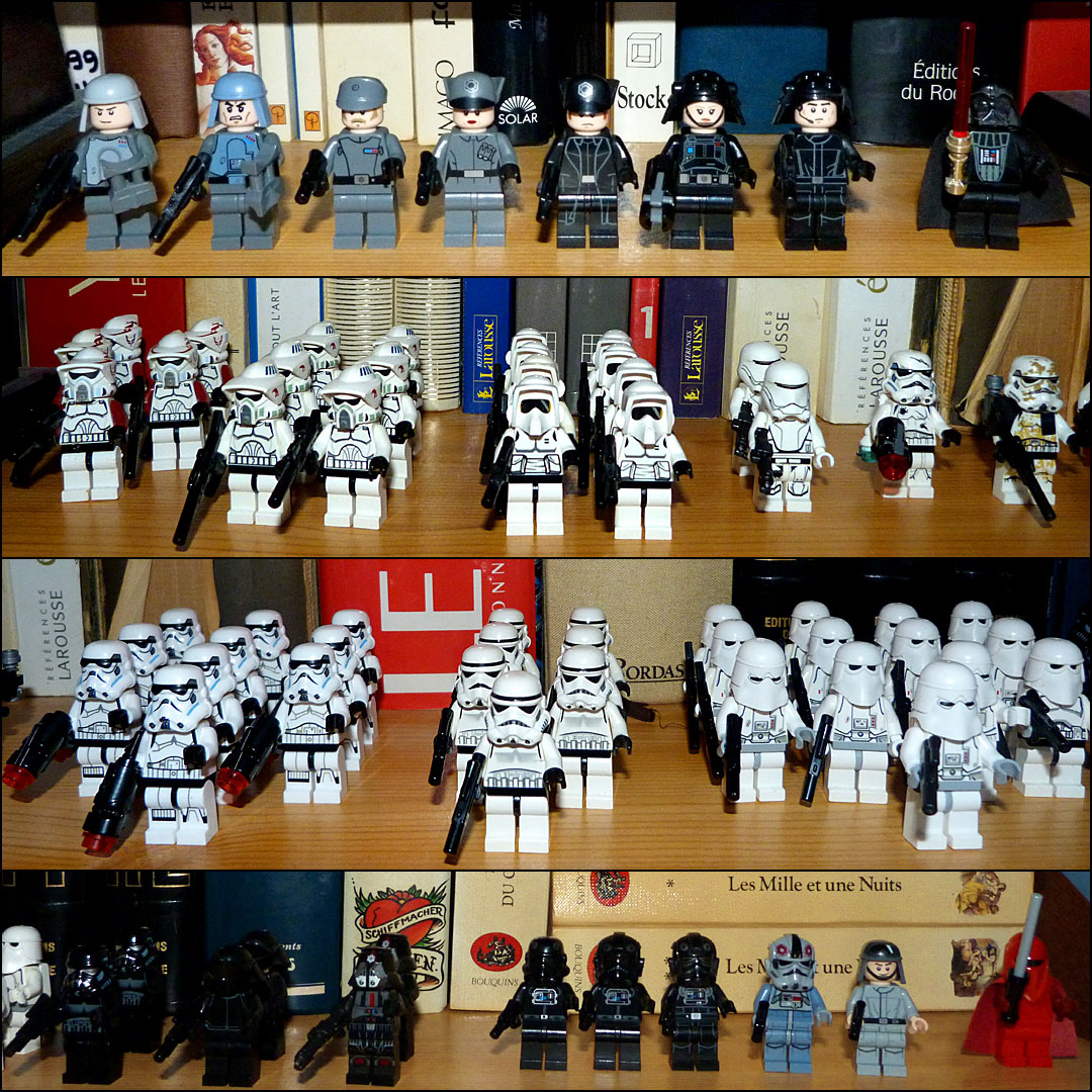 Lego Star Wars Empire stormtroopers snowtroopers scout troopers