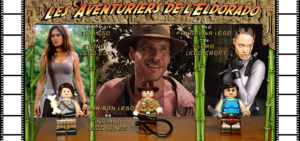 Aventuriers Eldorado Tia Carrere Harrison Ford Angelina Jolie Lego Sydey Fox Indiana Jones Lara Croft