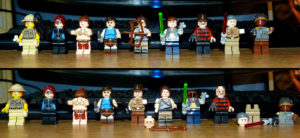 Figurines Lego custom archéologue Catwomanprincesse Leai, Lara Croft Indiana Jones Han Solo Freddy Krueger