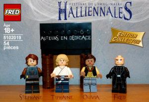 Lego Halliennales Stéphane Melin Tiphaine Croville Olivia Lapilus Fred auteurs en dédicace stand blog Un K à part