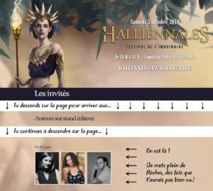 site Halliennales 2019 auteurs invités stand éditeur Un K à part avec Tiphaine Croville Olivia Lapilus et Stéphane Melin