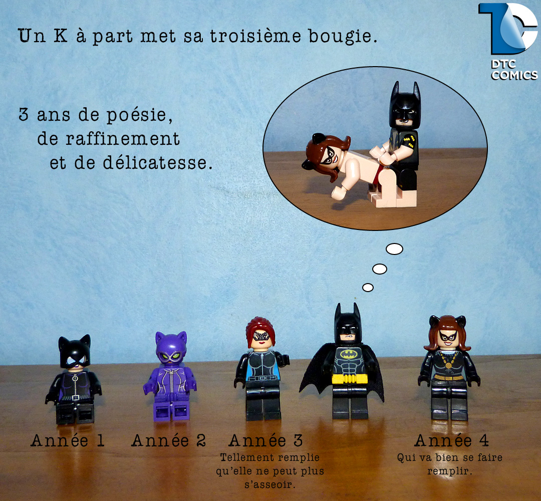 anniversaire blog Un K à part Batman fucking Catwoman Lego
