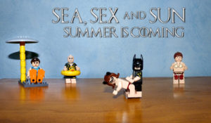 figurines Lego à la plage sea sex and sun summer is coming