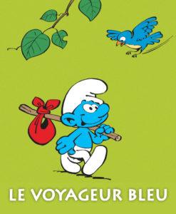 Le voyageur bleu schtroumpf baluchon
