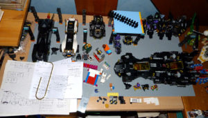 Batcave Lego MOC Batman anniversary chantier de construction