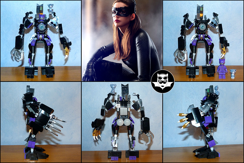 Lego MOC Catwoman DC Comics exosquelette robot de combat