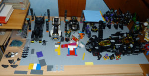Chantier construction Batcave Lego
