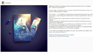 Olivia Lapilus Le Voyageur Bleu présentation Halliennales 2019 Instagram