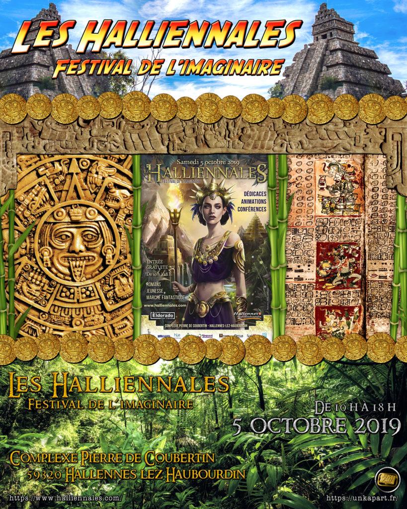 Affiche festival Les Halliennales 2019 salon Eldorado