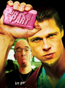 Affiche Fight Club Un K à part Fred Brad Pitt savon rose