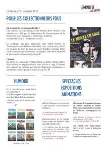 Bulletin d'information de l'association des amis de San-Antonio
