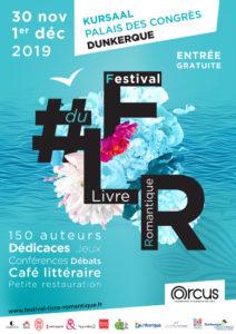 Affiche Festival du livre romantique FLR Dunkerque Kursaal