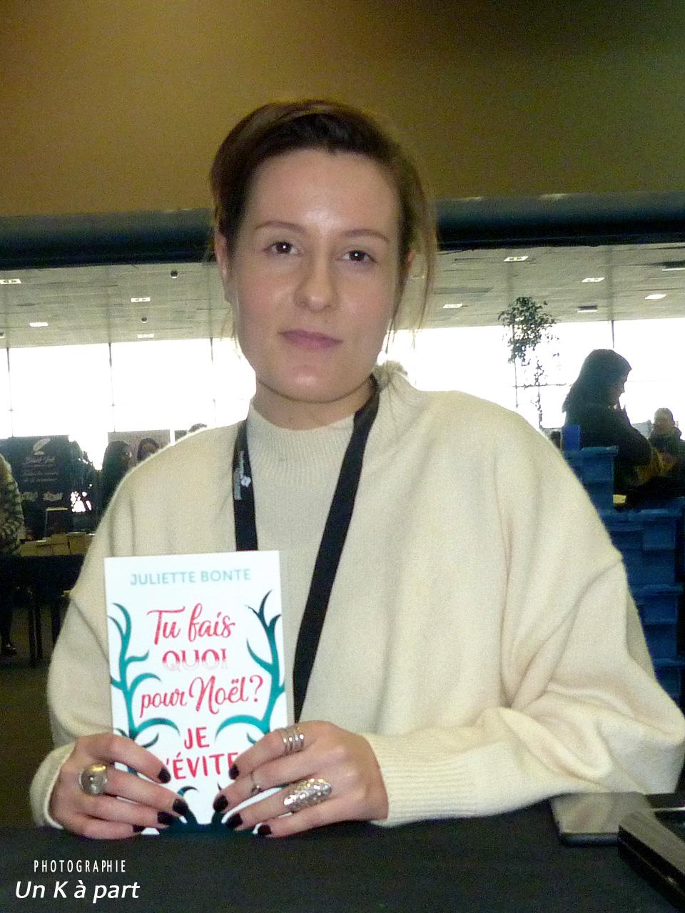 Festival du livre romantique Juliette Bonte