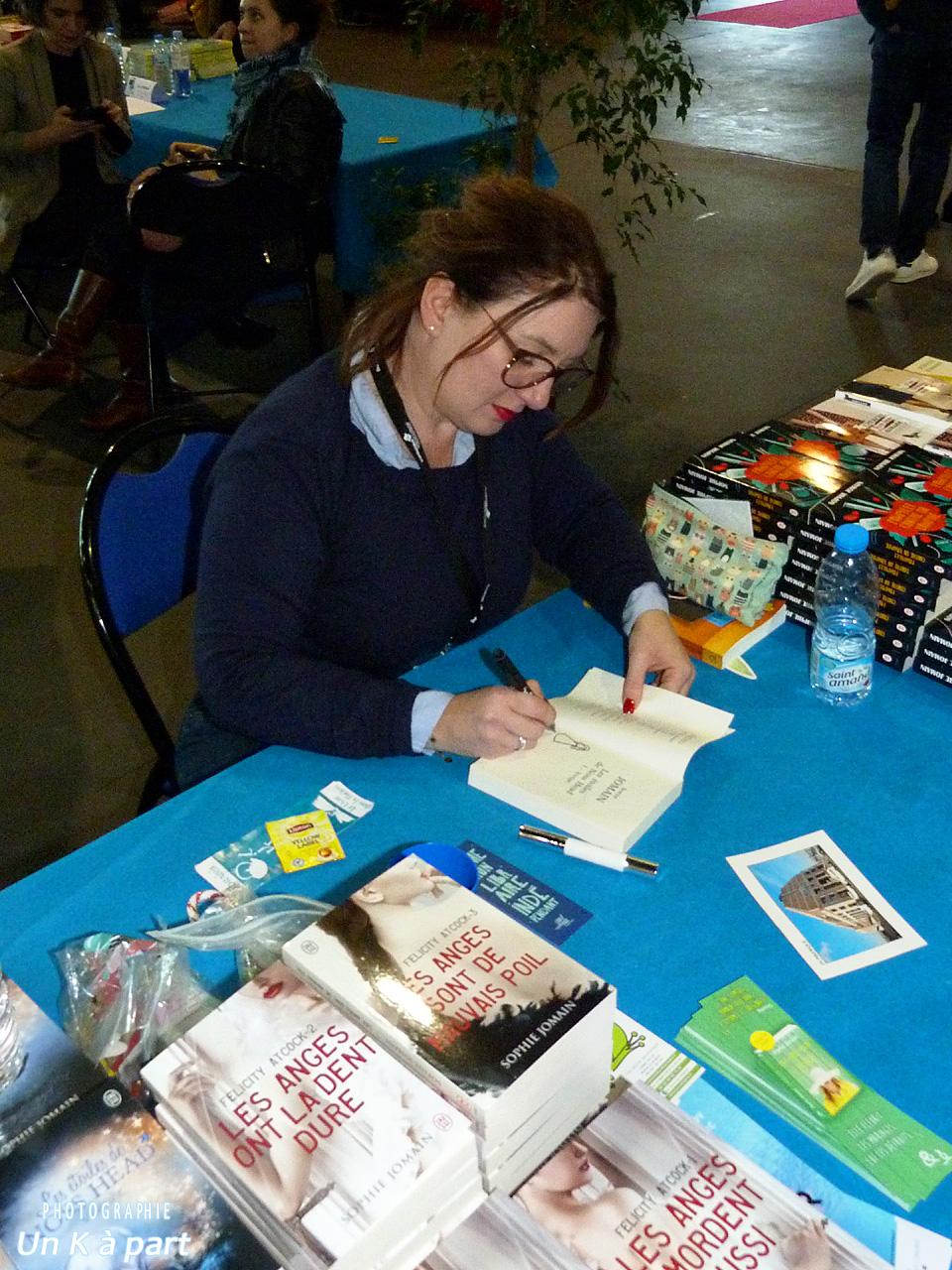 Festival du livre romantique Sophie Jomain dédicace