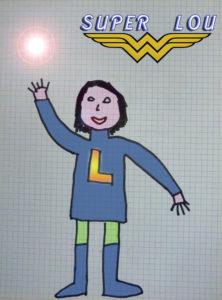 Lou dessin super heroine