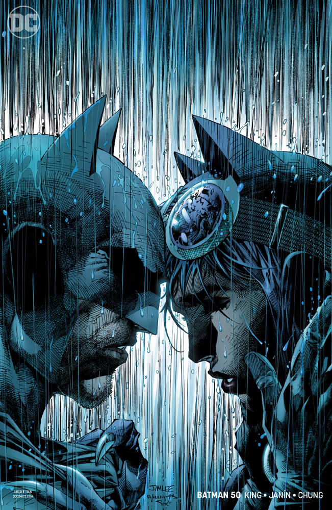 DC Univers Rebirth Batman 50 The Wedding of Batman and Catwoman couverture Jim Lee