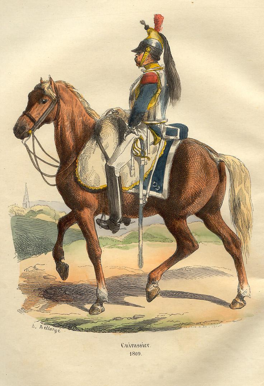 Cuirassier français Napoléon 1809 Bellangé
