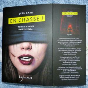 Couverture En chasse Jess Kaan éditions Lajouanie