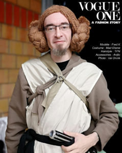 Fred Un K à part cosplay princesse Leia Star Wars Rogue One parodie magazine Vogue
