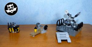 Batcave Lego matériel salle d'armes et d'entraînement
