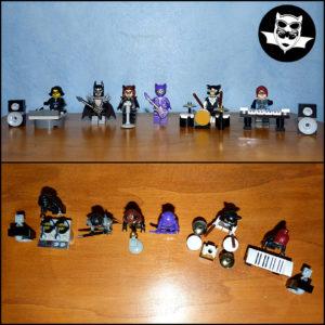 Batcave Lego MOC groupe musique Batman Catwoman