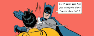 Batman Robin meme baffe claque slapping