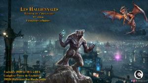 Halliennales 2020 affiche Un K à part urban fantasy festival de l'imaginaire