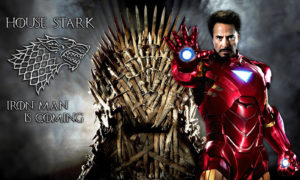 Iron Man Tony Stark Robert Downey Jr Game of Thrones