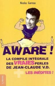 Couverture Aware JCVD Jean Claude Van Damme Nicolas Garreau O2 Publishing
