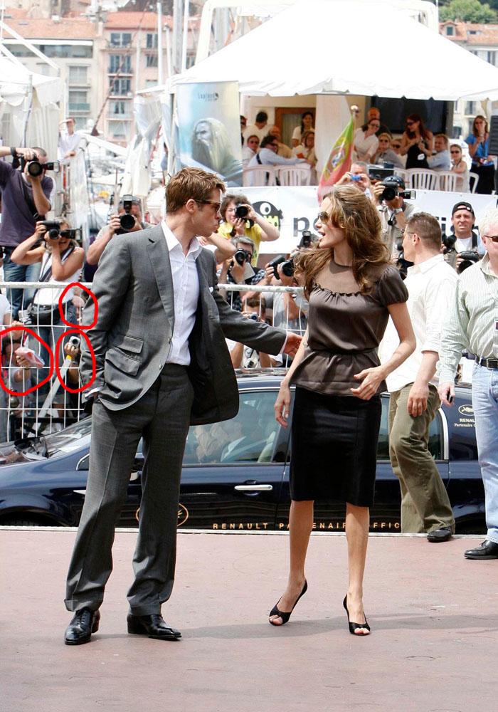Angelina Jolie et Brad Pitt photocall Festival de Cannes 2007
