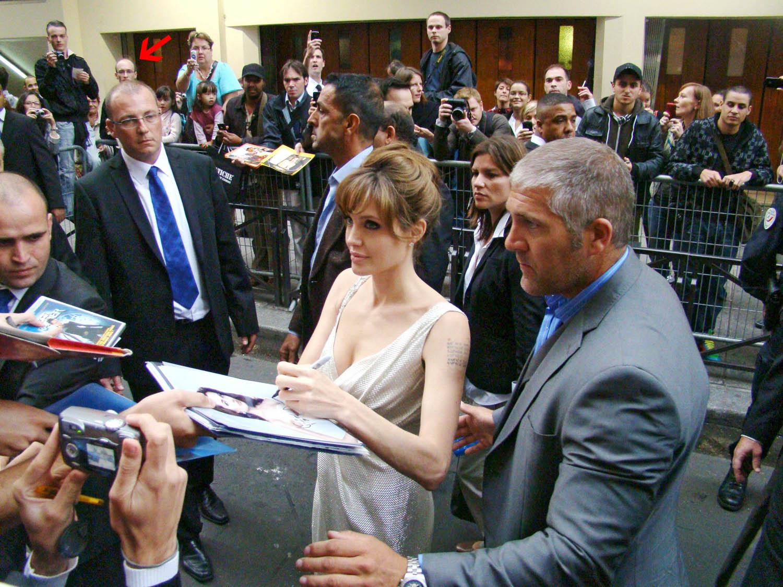 Angelina Jolie avant-première Salt Grand Rex autographe