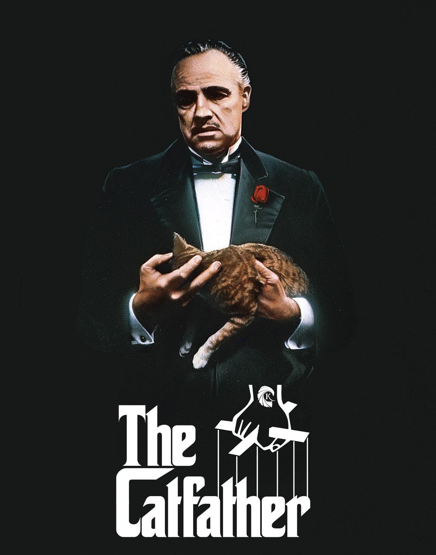Le Parrain Marlon Brando chat affiche détournée par Un K à part