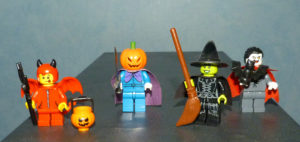 Lego Halloween diable citrouille sorcière vampire