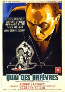 Affiche film Quai des Orfèvres Henri-Georges Clouzot Louis Jouvet