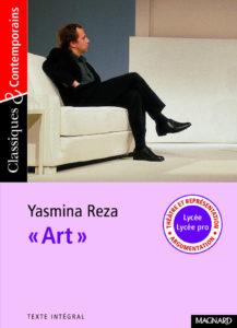 Couverture Art Yasmina Reza théâtre Magnard