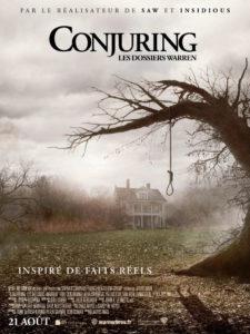 Affiche film Conjuring les dossiers Warren James Wan