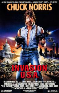 Affiche Invasion USA Joseph Zito Chuck Norris
