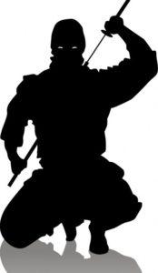 silhouette guerrier ninja