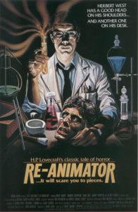 Affiche film Re-Animator Herbert West Lovecraft