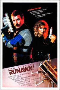 Affiche film Runaway Michael Crichton Tom Selleck