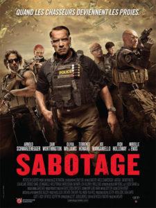 Affiche film Sabotage Arnold Schwarzenegger