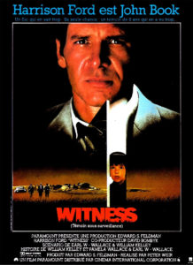 Affiche film Witness Harrison Ford