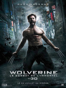 Affiche film Wolverine Le combat de l'immortel Hugh Jackman