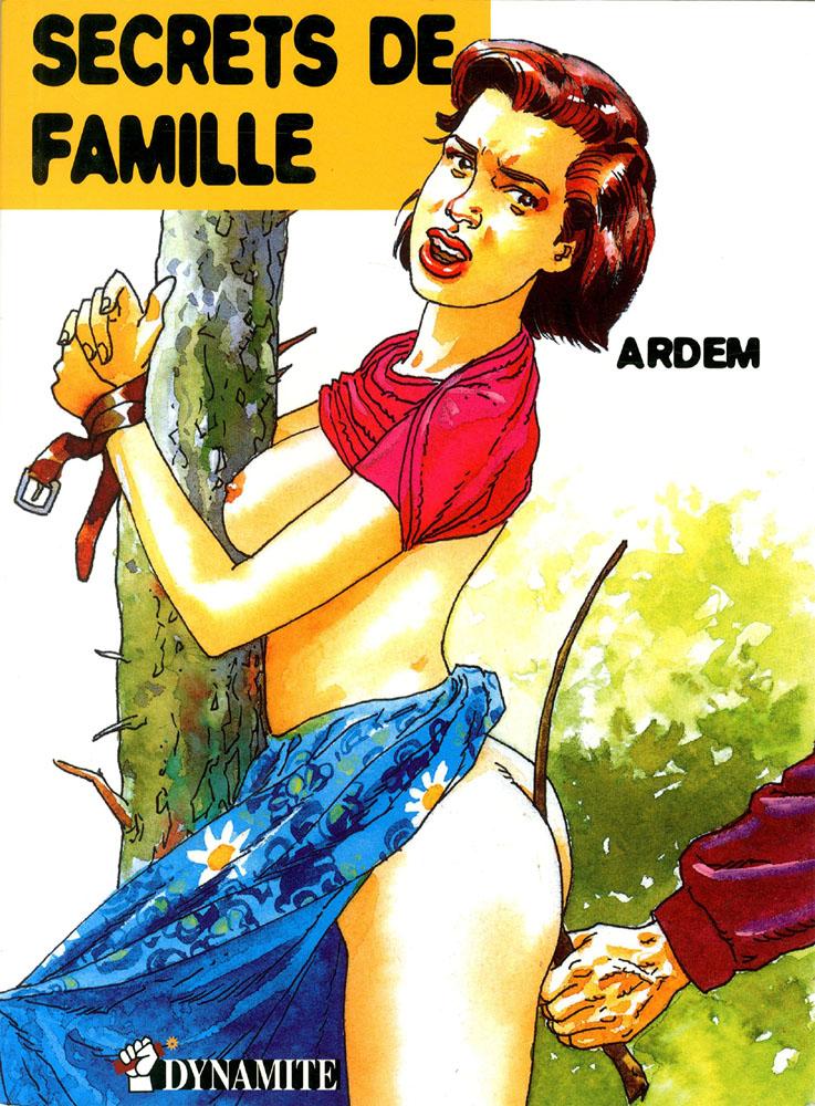 Couverture bande dessinée Secrets de famille Confessions érotiques Valérie Ardem Dynamite