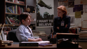 X-Files I want to believe Fox Muleder Dana Scully