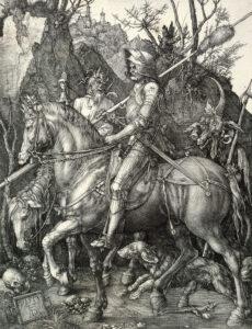 Dürer Le chevalier, la Mort et le Diable