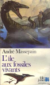 Couverture L'île aux fossiles vivants André Massepain Folio Junior série Plein Vent